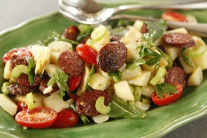 Potato and Chorizo salad compressed